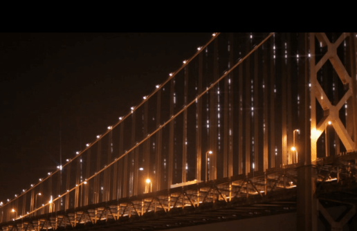 The Bay City Lights Shine On | 25,000 Lights Shine The Bay Bridge