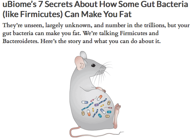 uBiome's 7 Secrets About How Some Gut Bacteria (like Firmicutes) Can Make You Fat