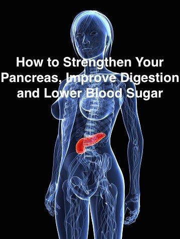 strengthen your pancreas