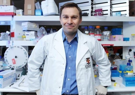 Dr. David Sinclair's research focuses on the mitochonria.